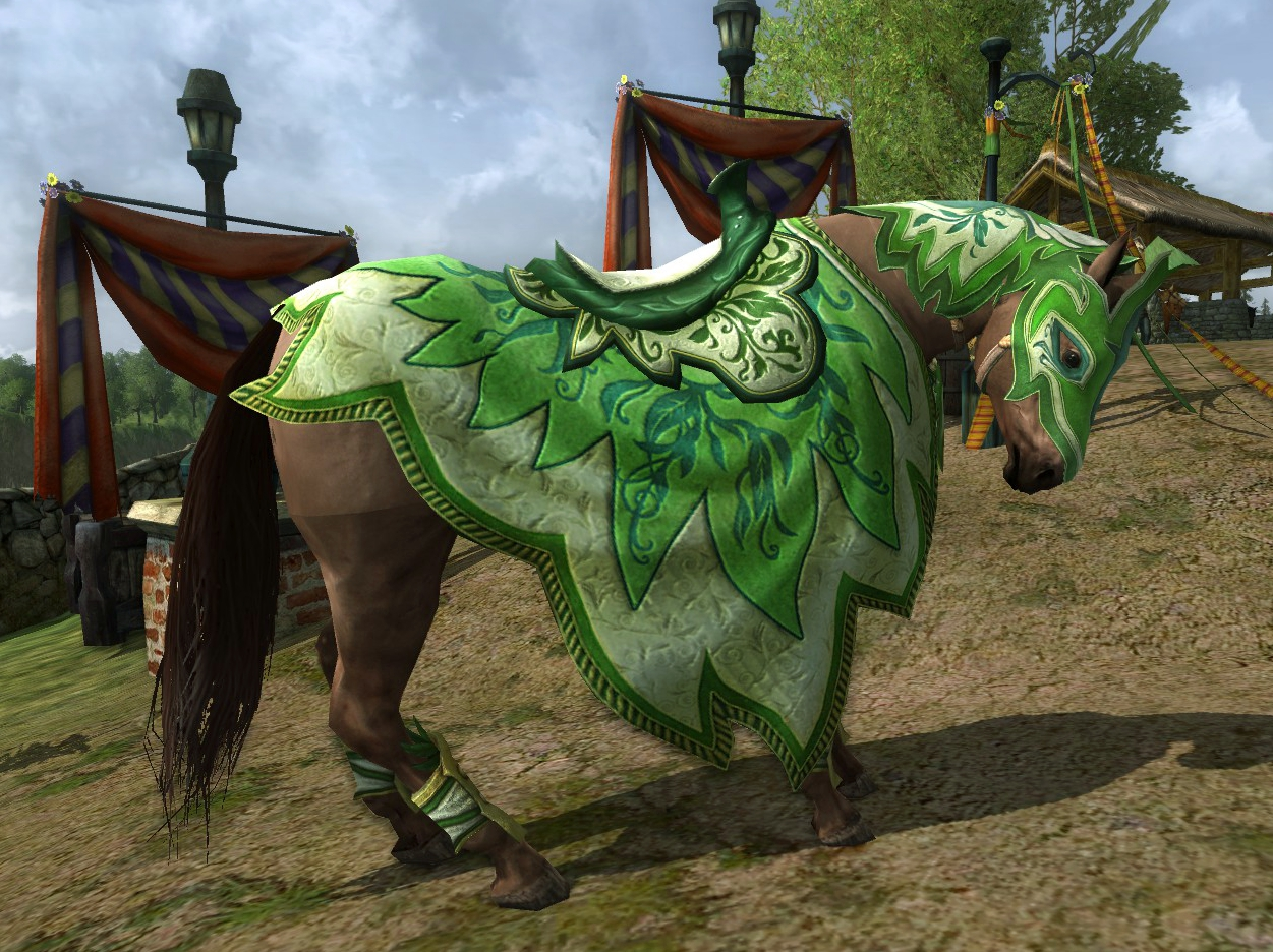 The newest addition to the LotRO stables, the Lissuin Steed