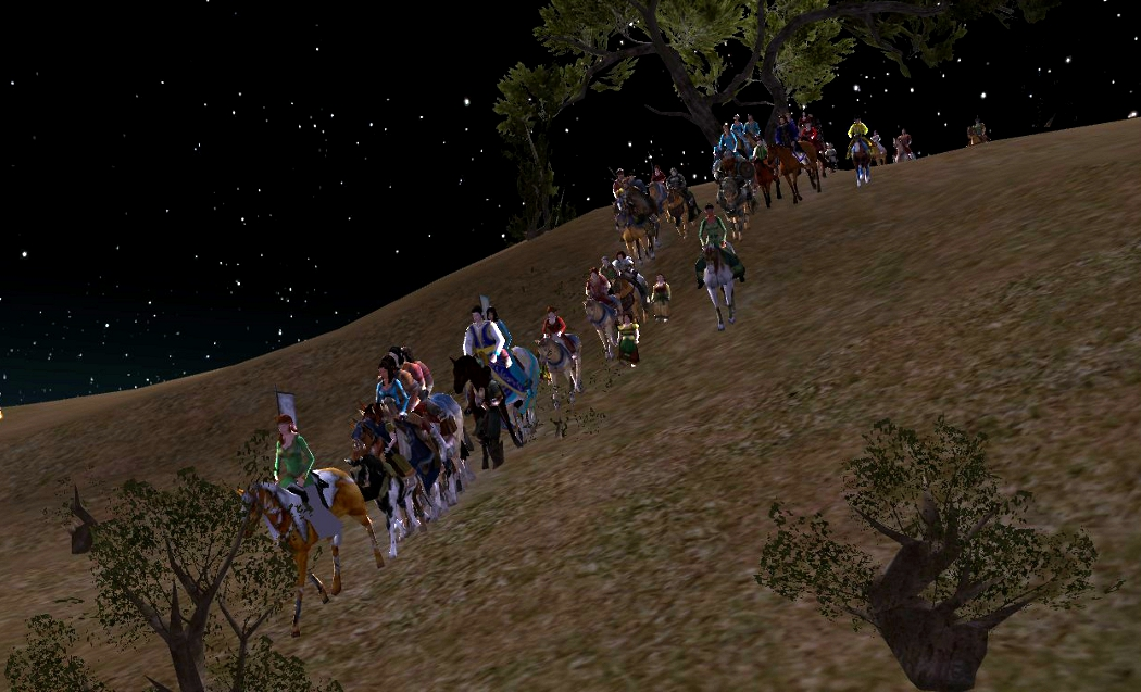 The mounted procession up to Weatherstock!